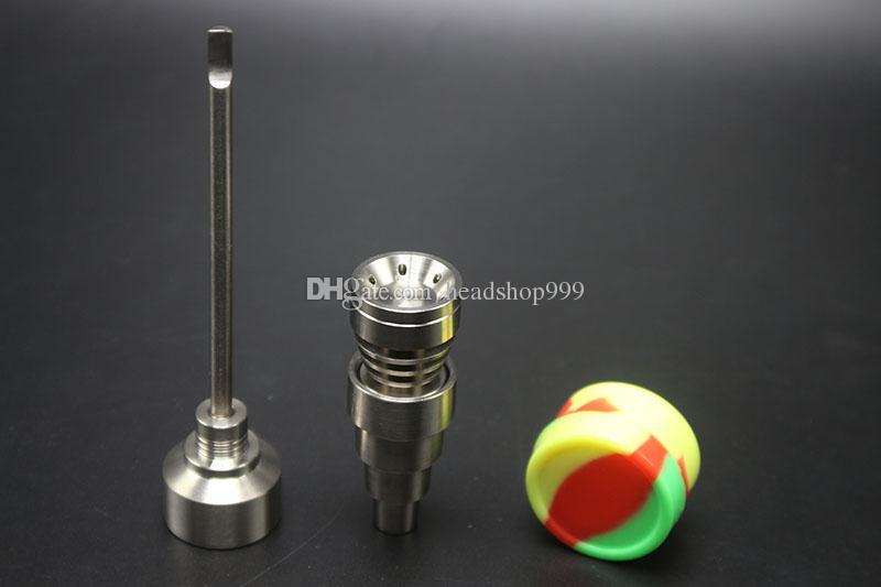 Bong Werkzeug Set 10/14 / 18mm Domeless GR2 Titan Nagel Carb Cap Dabber DAB RIG GLAS BONG Rauchen Wasserleitung