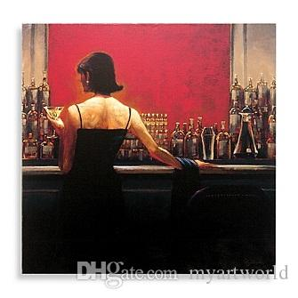 Framed Cigar Bar Woman by Brent Lynch,Pure Handpainted Modern Decor Pop Art Oil Painting On Canvas.Multi Sizes Available,Free Shipping my126