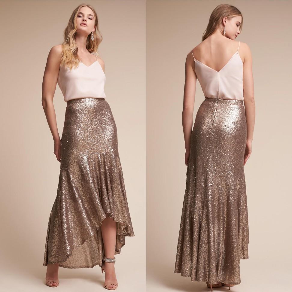 865079a17 Compre Vestidos De Madrina De Bajo La Seda Sirena Sequined País Vestidos De  Novia Vestido De Dos Piezas A  78.7 Del Weddingteam