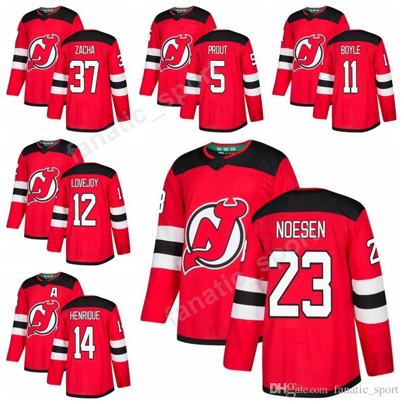 3550e4980 Ice Hockey 11 Brian Boyle 44 Miles Wood Jersey 37 Pavel Zacha 12 Ben ...