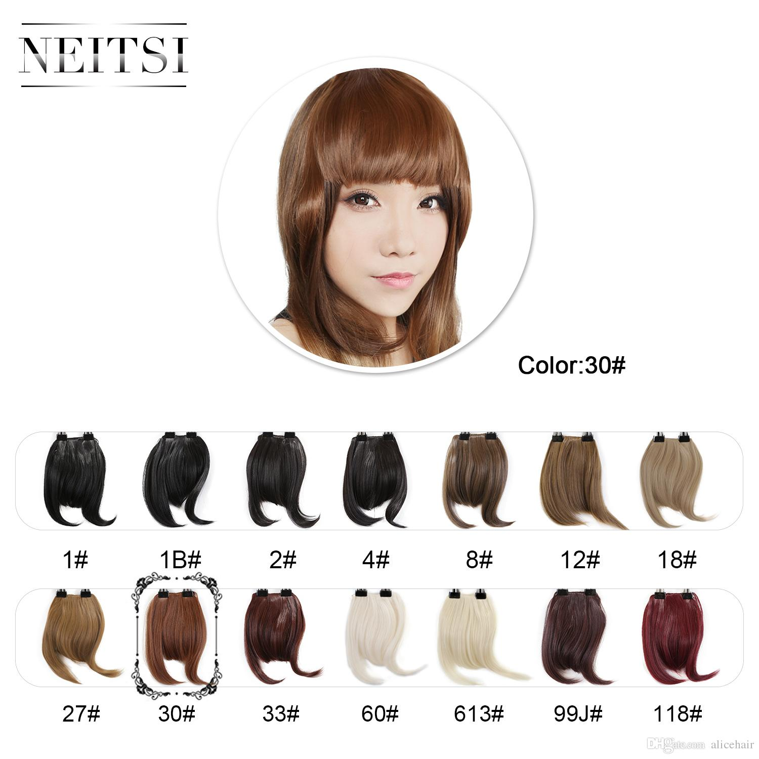 New Arrival Neitsi Front Bang Hair Extension Clip in Hair Bang ...