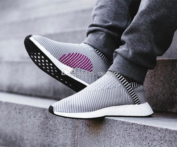 cf7c636bc 2019 With Box City Sock 2 Primeknit Shock Pink Pack Casual Sneakers NM CS2  Shoes For Men And Women Training Boots Size 36 45 From Esoccer