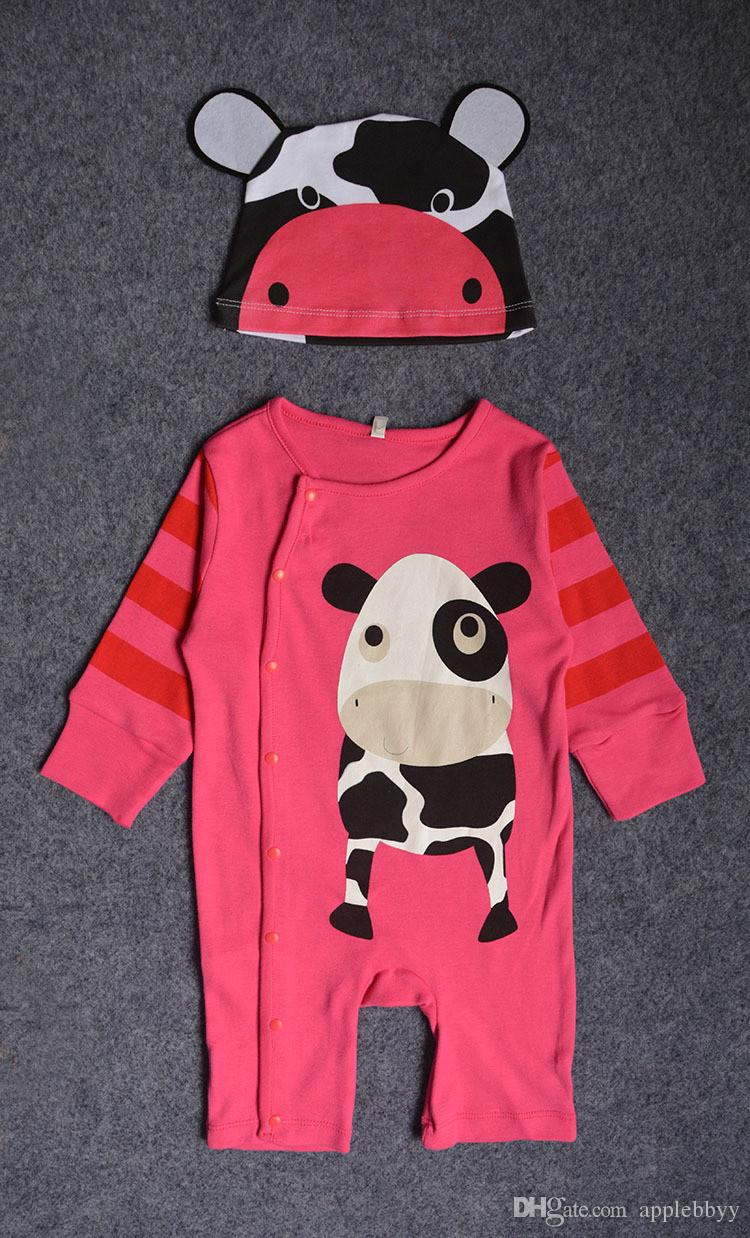Baby long - sleeved jeans cotton cartoon animals tiger panda lion suits tattoo clothing spring and autumn clothing children s clothing