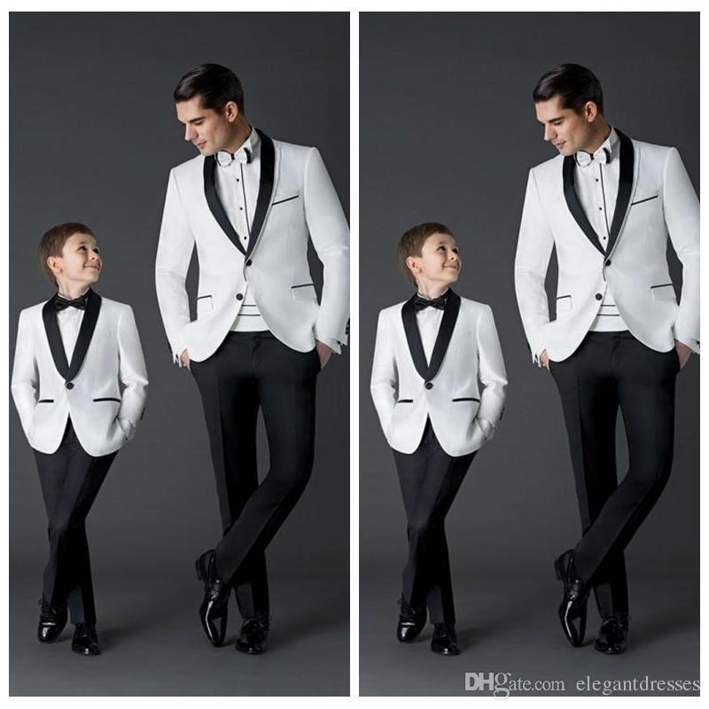 Nach Maß 2018 neue Mode Bräutigam Smoking Herren Hochzeitskleid Prom Anzüge Vater und Junge Smoking Jacke + Pants + Bow formelle Kleidung Smoking