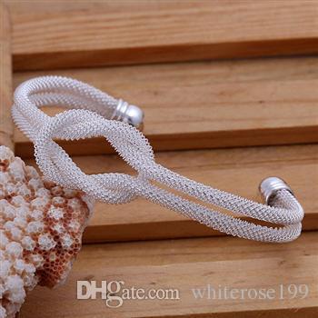 Оптовая торговля-розничная низкая цена Рождественский подарок, бесплатная доставка, новый 925 серебряный браслет моды B091