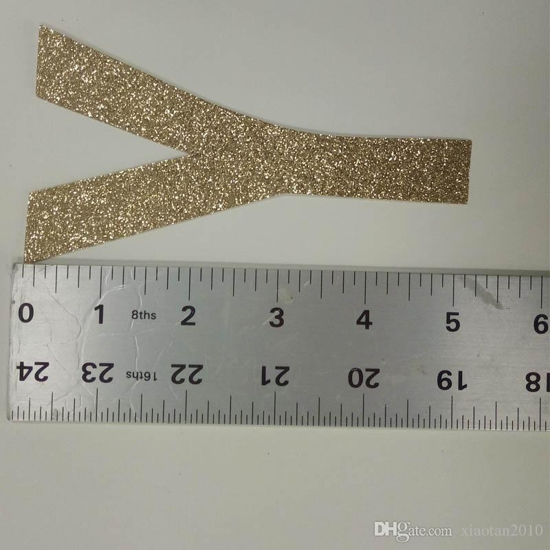 """Hot sale glitter paper letters """"Y"""" Decor Birthday Party, New Year,Cake,Craft"""
