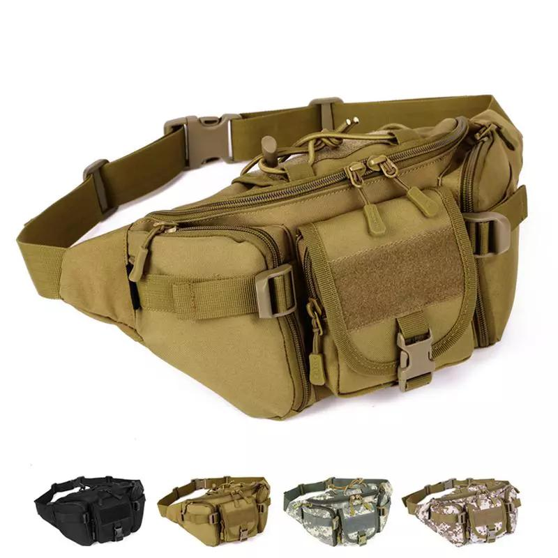 SINAIRSOFT Tactical Molle Bag Waterproof Waist Bag Fanny Pack Hiking  Fishing Sports Hunting Waist Bags Tactical Sports Bag Belt Pink Fanny Pack  Hip Pack ... 697873a02ba