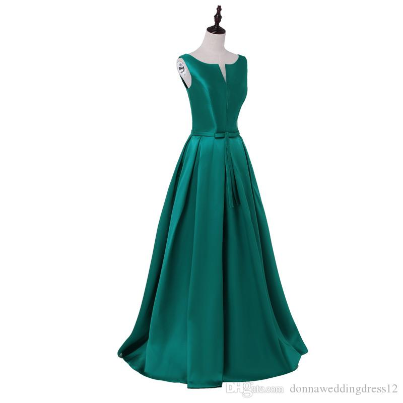 2017 Hot sale elegant green evening dresses V-opening back prom formal party dress vestidos de festa style dress