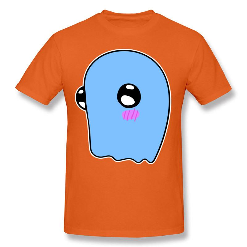 Promotions Blushing Ghost Print Men's Outdoor Casual T-Shirt Summer Beach Surf T-Shirt Men's Short Sleeve Cotton Shirt