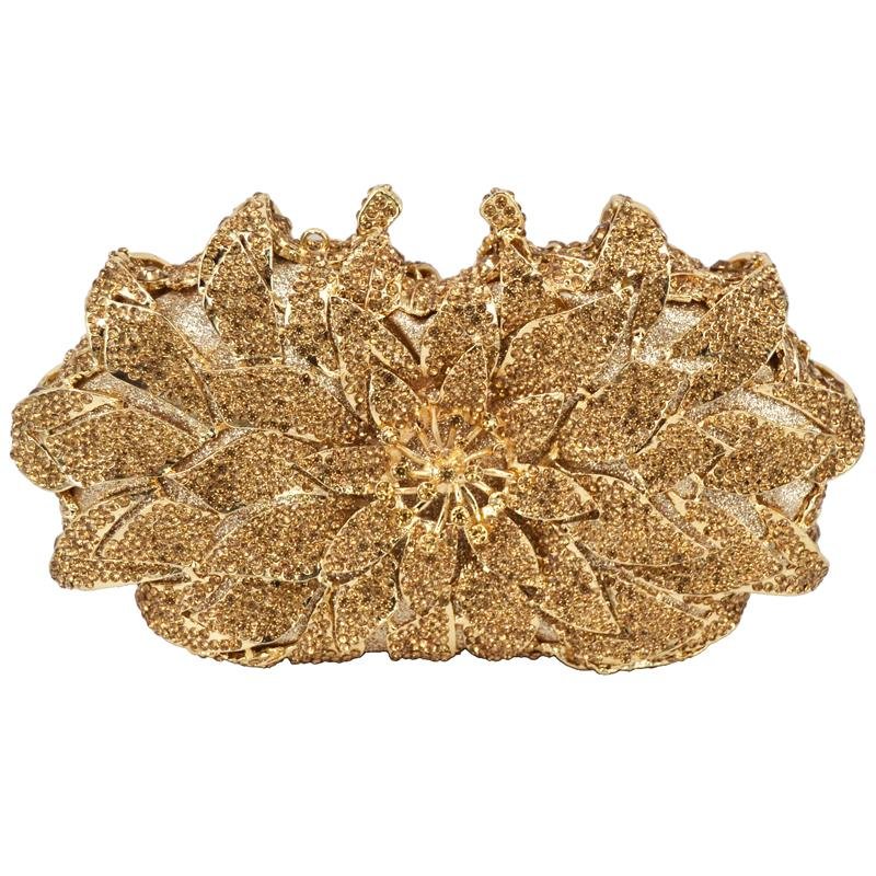 Wholesale Red Gold Silver Yellow Luxury Diamond Clutch Bag Wedding Bride  Crystal Encrusted Bags Sparkly Diamante Banquet Bag Handbag SC172 Totes Bags  ... e7258094f81e