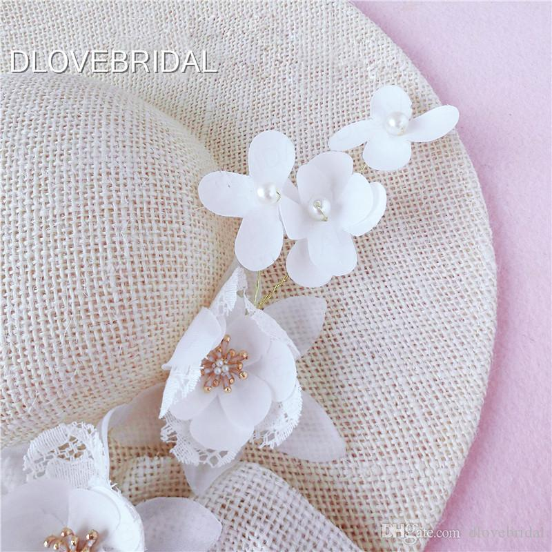 New Design Ivory Bridal Hat Delicate Floral Linen Garden Wedding Hair Accessory Bride Mother Special Occasion Party Photo Hat