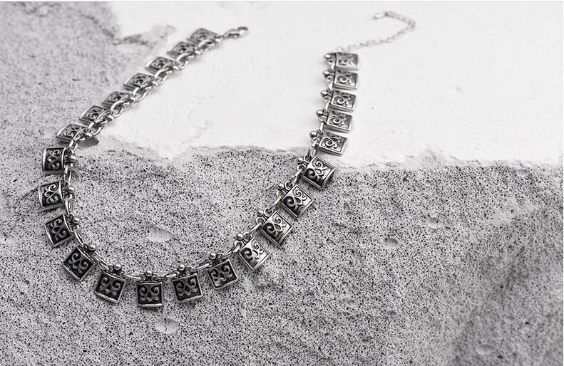 Collana di choker stile retrò Bomemia originali gioielli insoliti creativi donne ragazze regali fatti a mano in lega choker