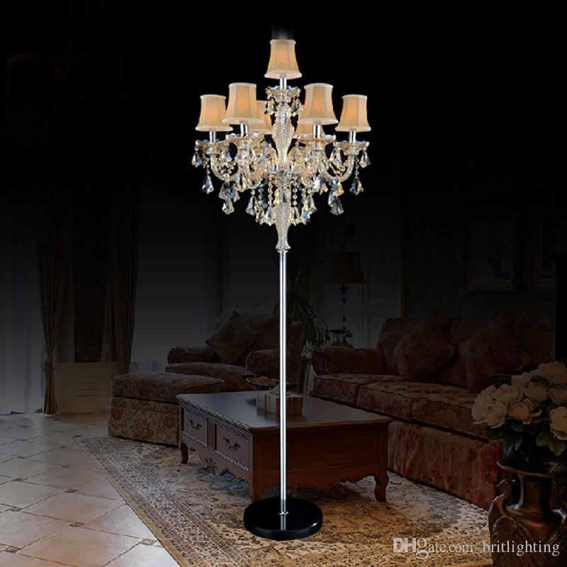 Merveilleux 2019 Indoor Lights Crystal Floor Lamp Living Room Modern Floor Lamps Bedroom  Led Floor Light Stand Industrial Background Wall Hotel Crystal Lamp From ...