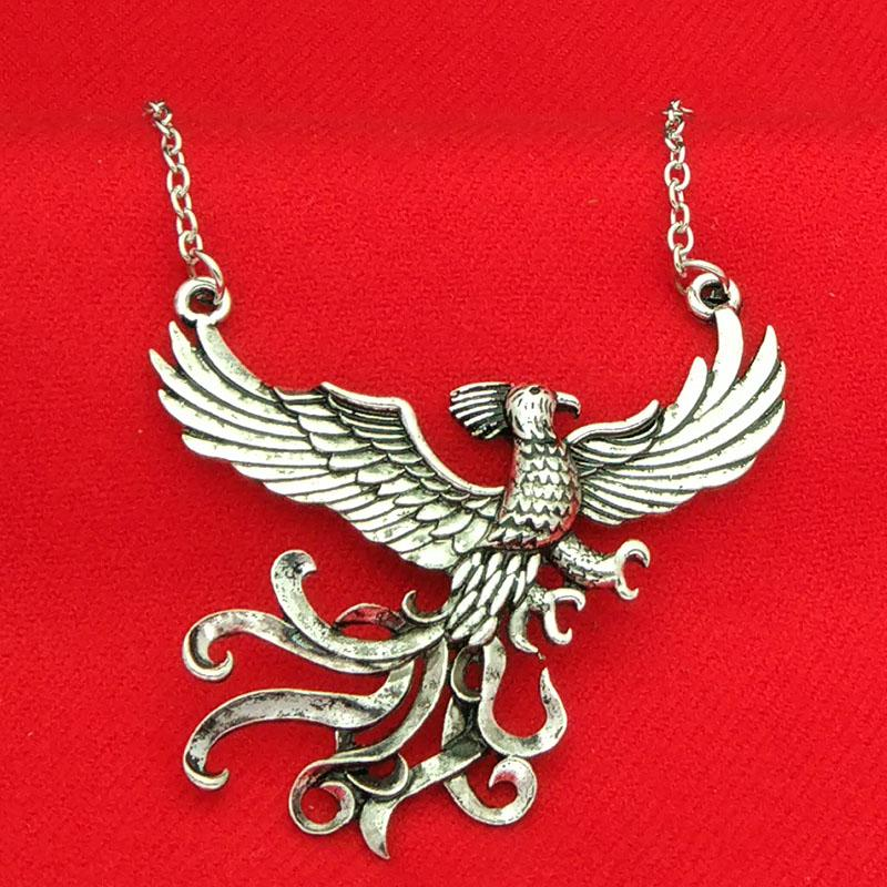 Harry book dumbledore phoenix fawkes necklace ancient silver bird harry book dumbledore phoenix fawkes necklace ancient silver bird phoenix pendants women potter fashion jewelry gift drop shipping dumbledore phoenix mozeypictures Gallery