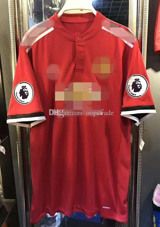 8823b558c Newest Arrival M United Home Away Shirt 17-18 Mens Thai Quality Goalkeeper Soccer  Jerseys FC Cheap Football Club Set Accept Custom Rooney ClimaCool Cheap ...