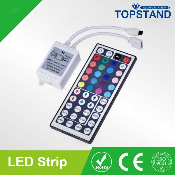 Lowest Price!!! RGB LED strip Kit 5050 60LEDs/M 5M waterproof +44key IR remote controller +12V 5A power supply