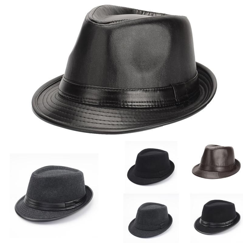 95a1ff1ddae8b Compre New Outono Inverno Estilo Britânico Homens Jazz Caps Chapéus Moda  Feltro De Lã Fedoras Trilby Chapéu Para Homens De Meia Idade E Idosos GH  215 De ...