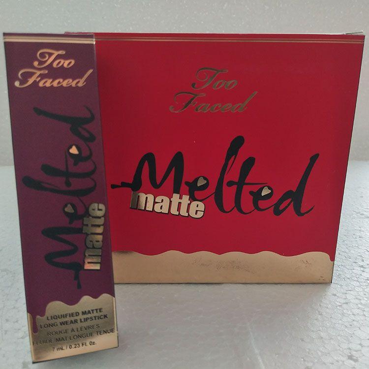 في المخزن! thenew free Epacket New Melted Matte Liquid Matte أحمر الشفاه ملمع شفاه يدوم طويلا