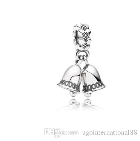 b7ea73538 2019 Fits Pandora Bracelets Jingle Bell Christmas Bells Charms Bead Dangle  Silver Beads For Wholesale Diy European Sterling Necklace Jewelry From ...