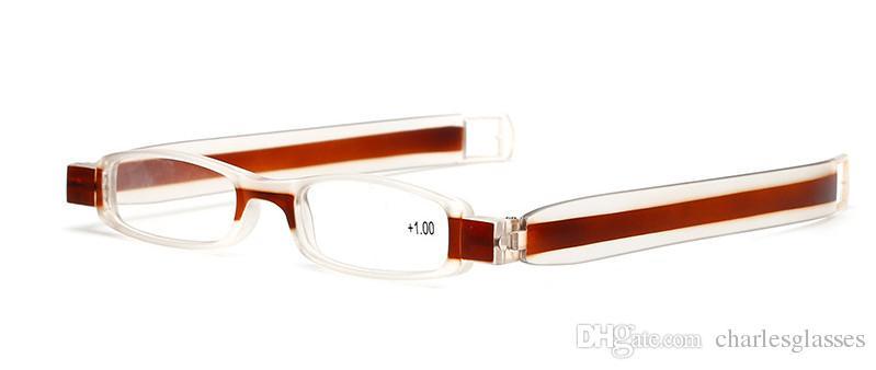 Foldable reading glassesn plastic presbyopic glasses many colors