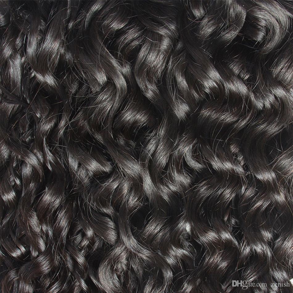 Brasiliani Virgin Hair Wave Wave 3/4 Bundles Destensione dei capelli umani Tessitura dei capelli brasiliani Tessuti naturali Remy Remy Stessa direzione Cuticle Grado 10A