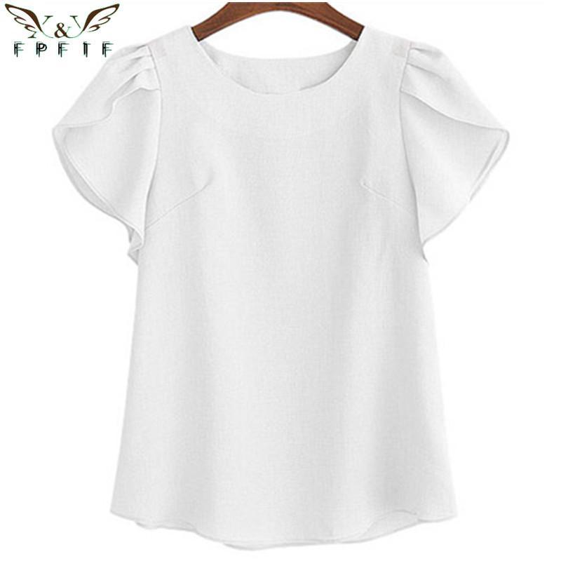 Compre Las Mujeres De Moda Top Kimono Blusas O Cuello Camisas Gasa ...