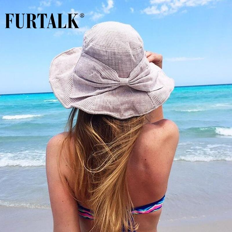 f348906839d Wholesale- FURTALK Summer Sun Hats for Women Fashion Design Women ...