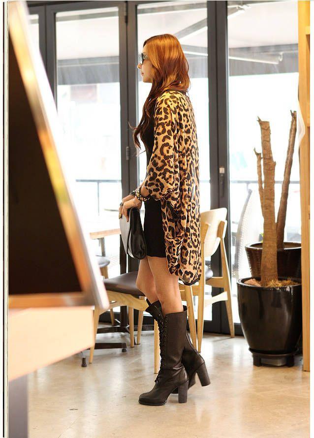 2017 nova menina ocidental mulheres leopardo manga batwing ponchos blusa para mulheres senhora meninas camisas clothing