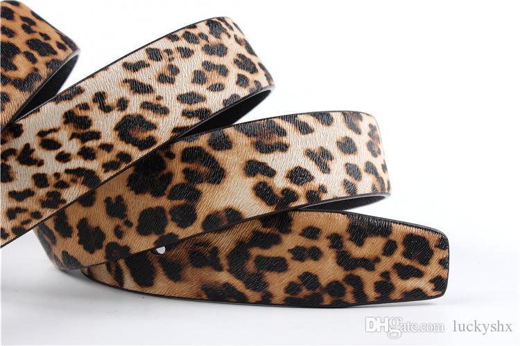 Ceintures de mode pour dames Ceinture en cuir véritable de marque Leopard pour femmes Ceinture de luxe pour hommes