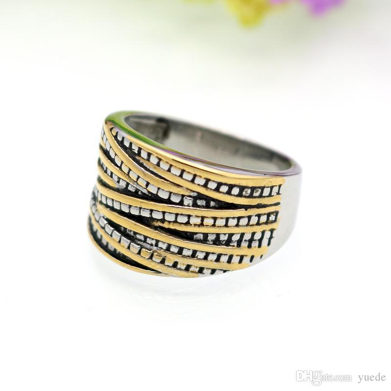 2017 nouvelle Vente 2 couleur Anillos 2017 rétro Anneaux En Acier Inoxydable Pour Femme Marque Nom Bijoux Thaïlande anneaux anneaux fit Pandora Charme