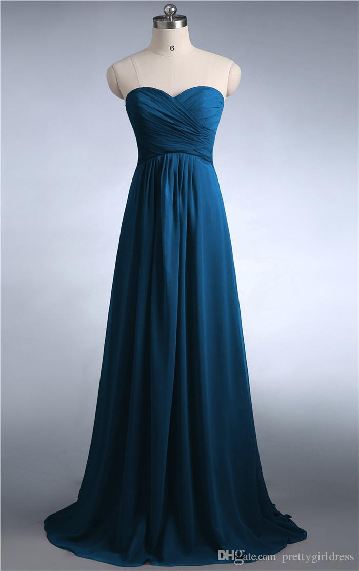 0039 Burgundy mint green coral jade colored chiffon strapless prom party dresses new fashion 2016 bridesmaid dress long