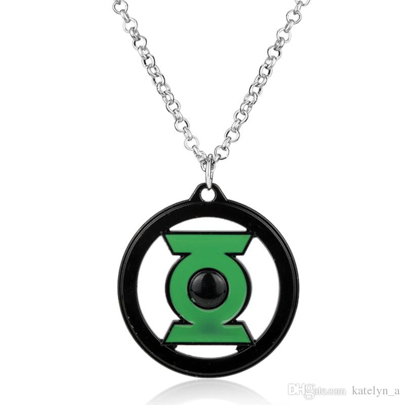 Movie Jewelry Accessories Necklace Superhero Green Lantern Jewelry Necklace Link Chain Necklace