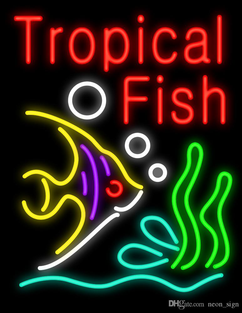 2019 Tropical Fish Neon Sign Home Art Restaurant Store Shop Motel