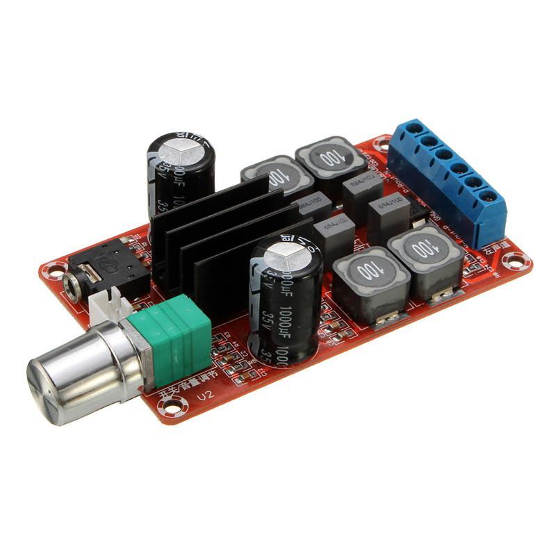 Freeshipping 2x50W Digital Endstufe Board 5 V zu 24 V Dual Channel Stereo AMP TPA3116D2