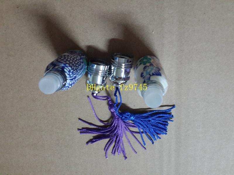 10 adet / grup Boş Parfüm Doldurulabilir Şişeler Cam Rulo Rulo Topu Polimer Kil Şişe Kapak 6 ml