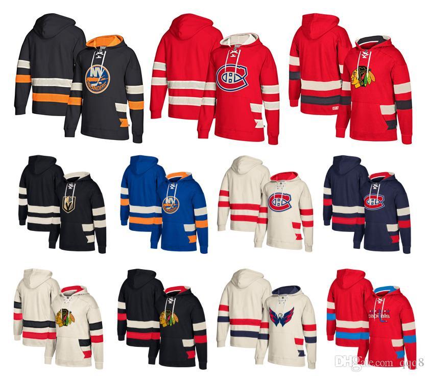 2019 Custom Hockey Hoodie Pullover Chicago Blackhawks Vegas Golden Knights  Washington Capitals Montreal Canadiens New York Islanders Top Quality From  Qqq8 6d1b4b4fb