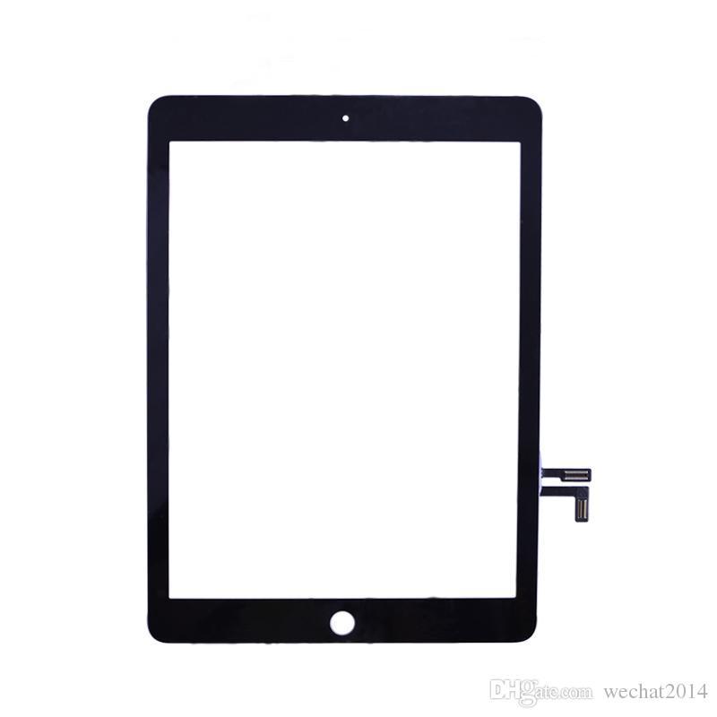 iPad Air siyah ve beyaz için% 100 Yeni Yüksek Kalite Dokunmatik Ekran Cam Panel Sayısallaştırıcı