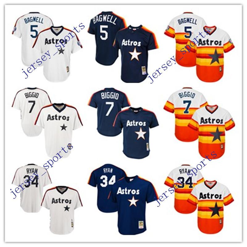 3e4a40a9ed1 ... MLB Houston Astros 2017 2017 Houston Astros Throwback Jersey  Cooperstown Collection MenS 5 Jeff Bagwell 7 Craig Biggio 27 Jose ...