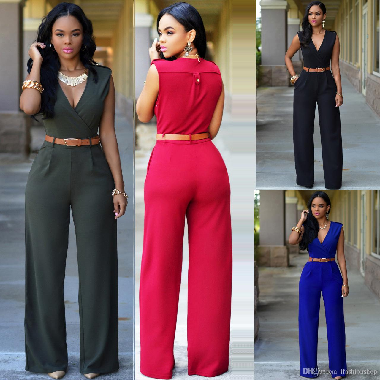 bfc6ec69f4c 2019 Fashion Women S Summer Loose Cultivate One S Morality Leisure Jumpsuits  With Belt Hot Sale Casual Jumpsuits 782 From Ifashionshop
