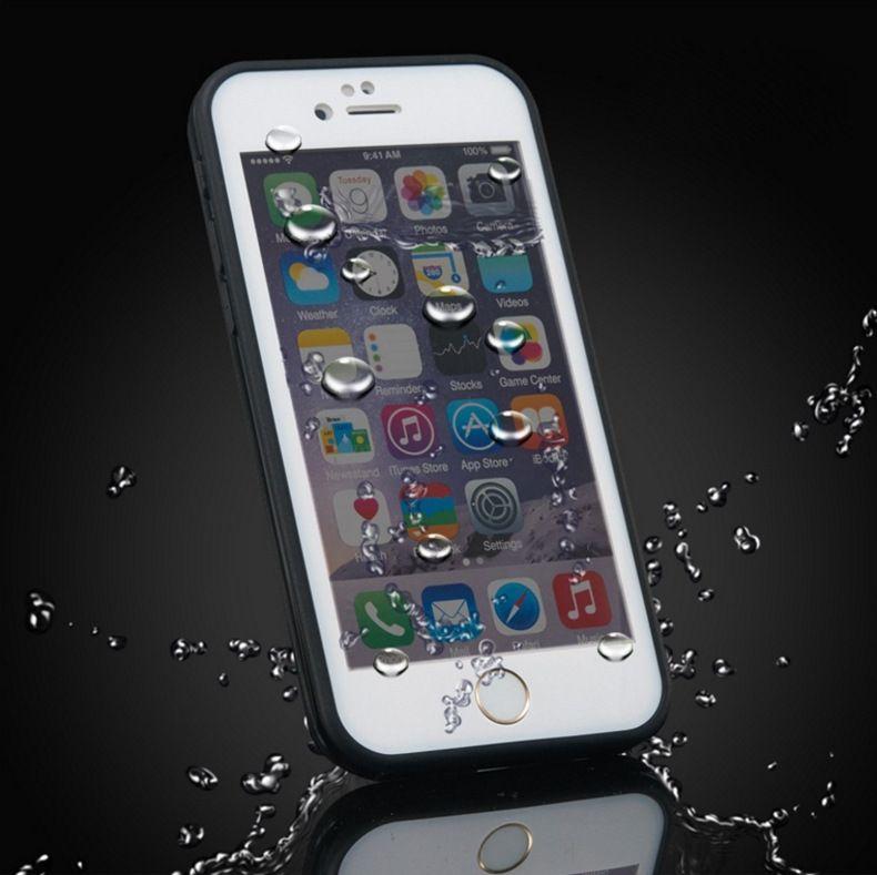 100% Mühürlü Su Geçirmez Tam Vücut Suya Dayanıklı Yumuşak TPU + PC durumda Jel Ön Case Arka iPhone 7 Artı 6 S 6 SE 5 5 S