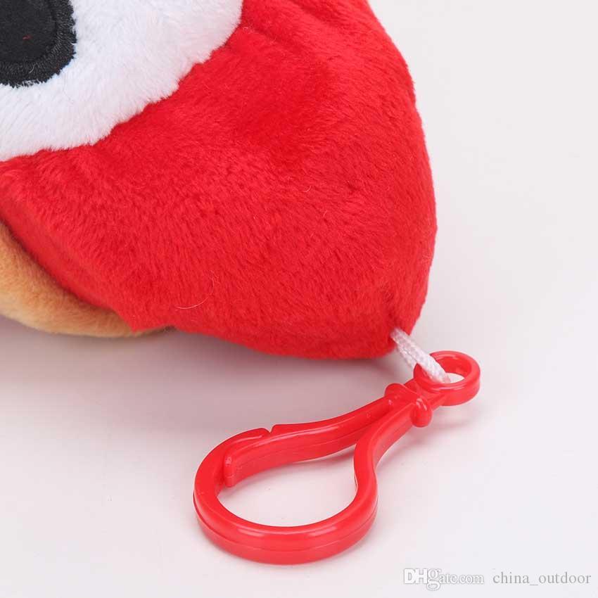 17cm Super Mario Bros Plush Toy Soft Stuffed Animal Shy Guy Doll pendant with hook keychain keyring