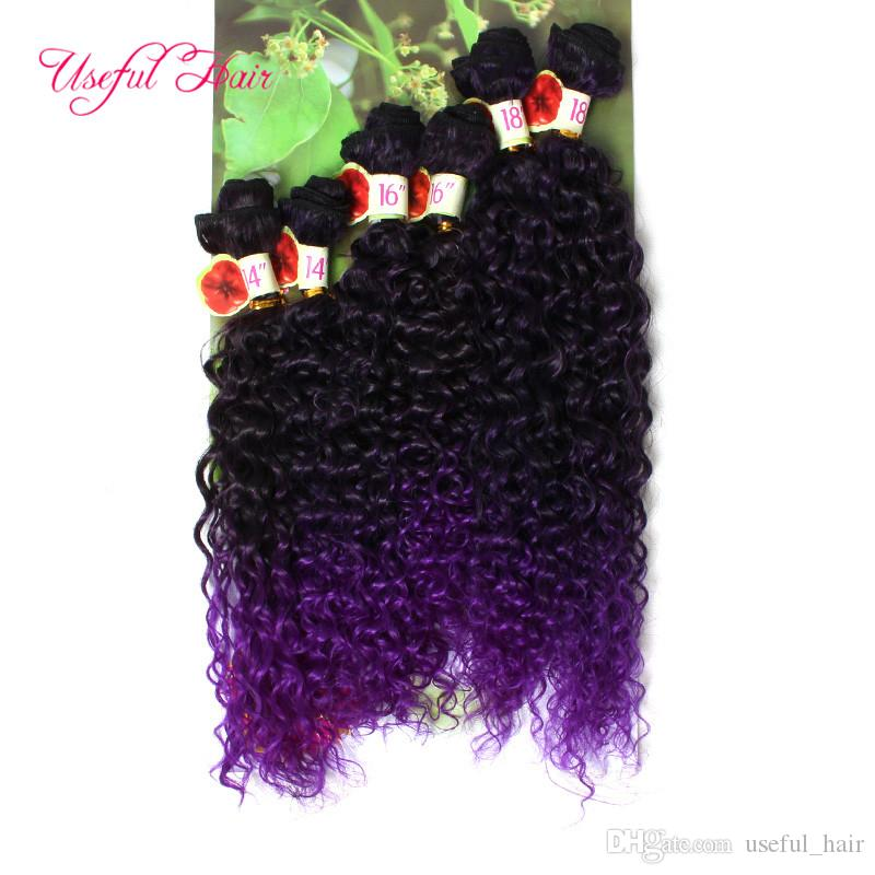 FASHION BLONDE hair EXTENSIONS SMART BEST QUALITY ombre color WEFT /PACKETS Jerry curlY crochet braids hair weaves DEEP WAVE WOMEN