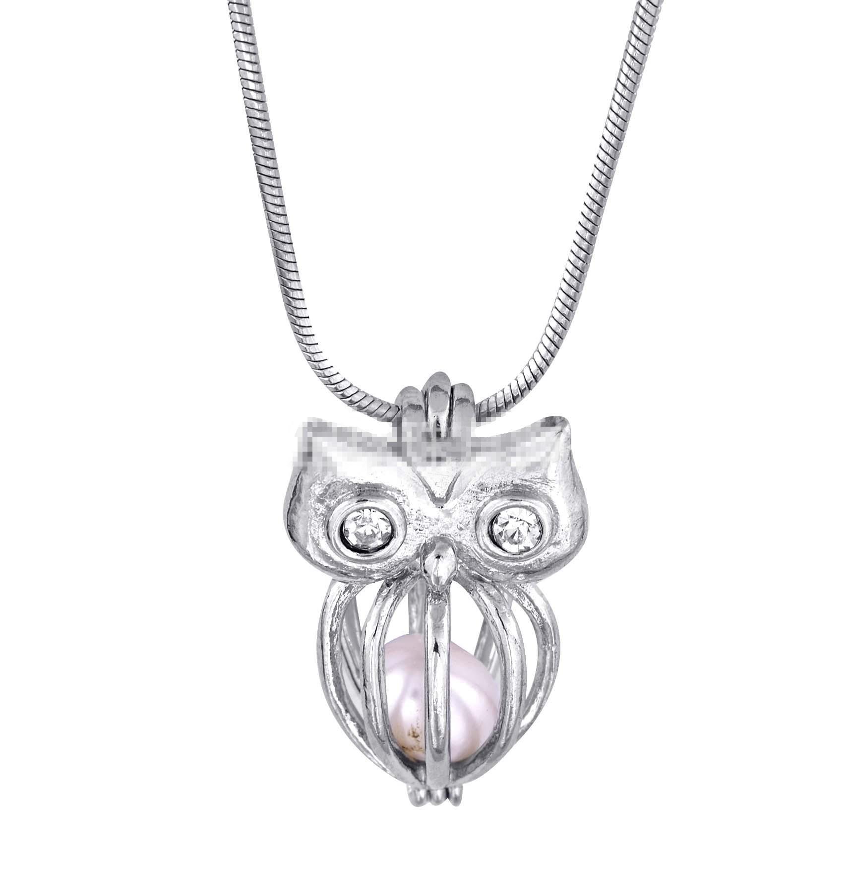 75 Estilos de perlas de amor Moda deseo perla / gema Stock 18kgp locket jaulas colgantes, collar de perlas de bricolaje colgantes del encanto montajes /