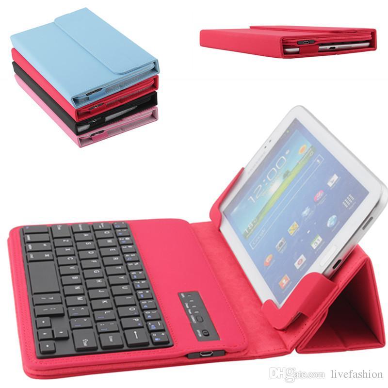 Compre New Universal Bluetooth Keyboard Case Para Apple Ipad 7 10 Polegada  Samsung S6 S7 Edge Tablet Colorido Titular Da Tampa Do Pc De Couro Ultra  Slim De ... 05e1779383