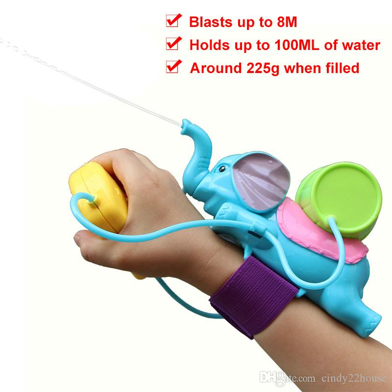 Baby Bath Toys for Children Kids Swimming Pool Bathroom Beach Toys Elephant Water Blaster Spraying Gun Cannon Sand Water Fight