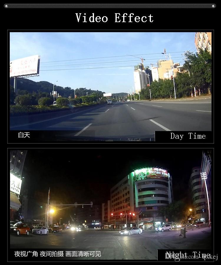 Dashcam سيارة DVR 2.8Inch كاميرا مصغرة 120 درجة زاوية فيديو مسجل مصنع الشحن المباشر مجانا