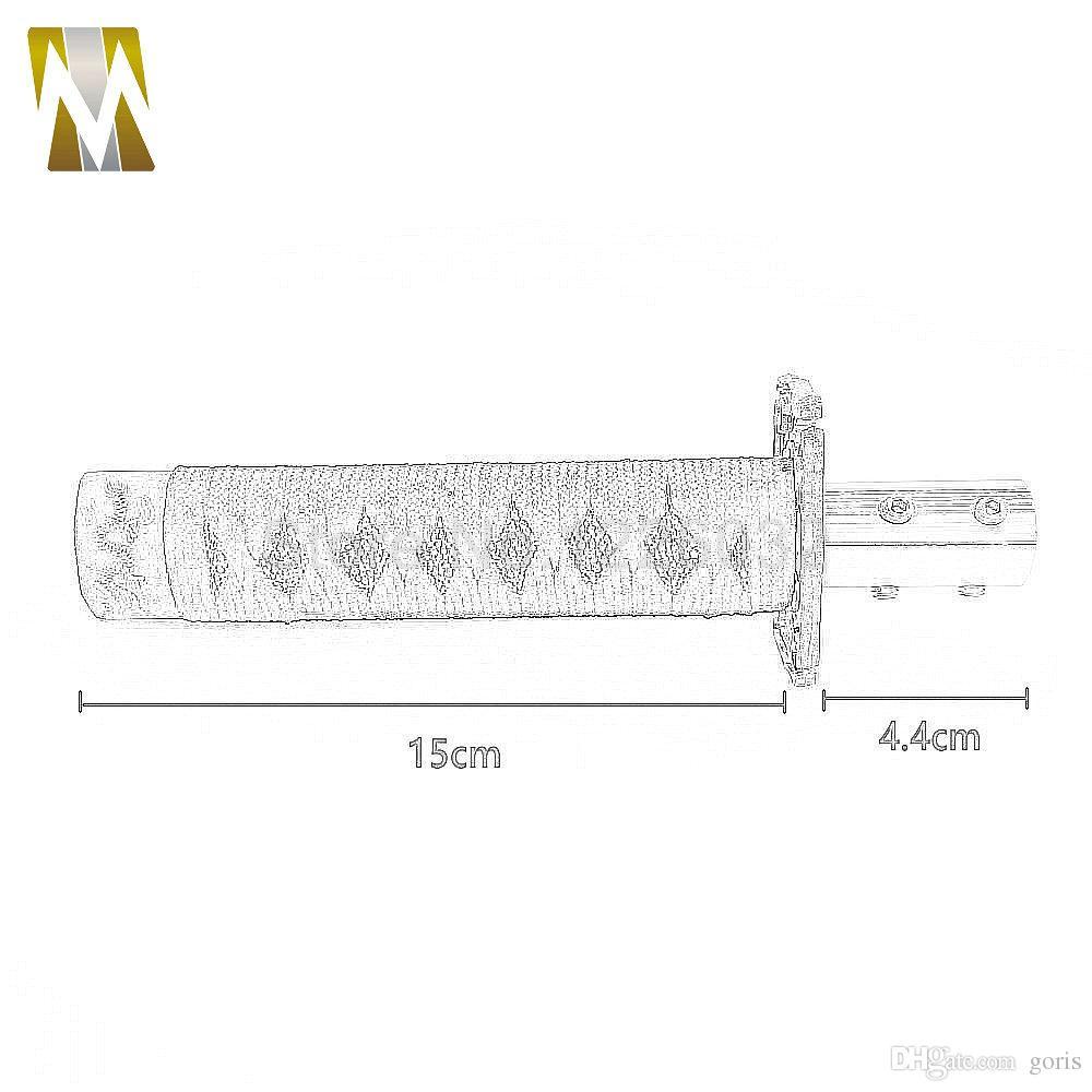 Schwarz + Gelb JDM Samurai-Schwert Schaltknauf Shifter Katana Metal Weighted Sport Mit Adapter 150mm