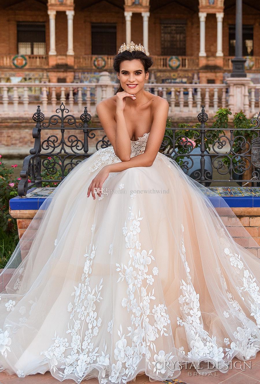 Compre Vestidos De Boda Del Vestido De Bola De La Princesa Del Corsé ...