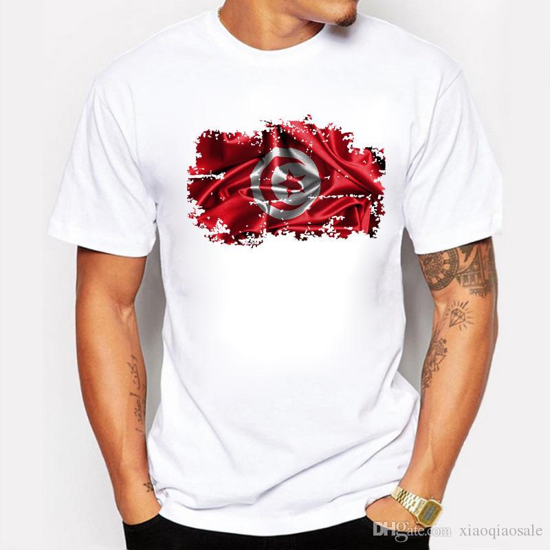 3D Тунис флаг футболки для мужчин лето прохладный топы с коротким рукавом повседневная мужчины футболки удобные Тунис Патриот тис