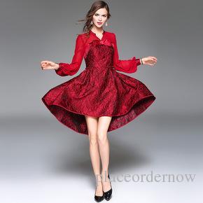 c0351dcddbfc Chiffon Women Dress Sexy Irregular Dresses Fashion Red Black ...